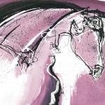 Proud Mare - 48cm by 56cm - ink & watercolour