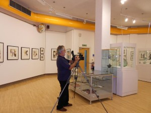 Image of Nick Pudsey Filming my Exhibition
