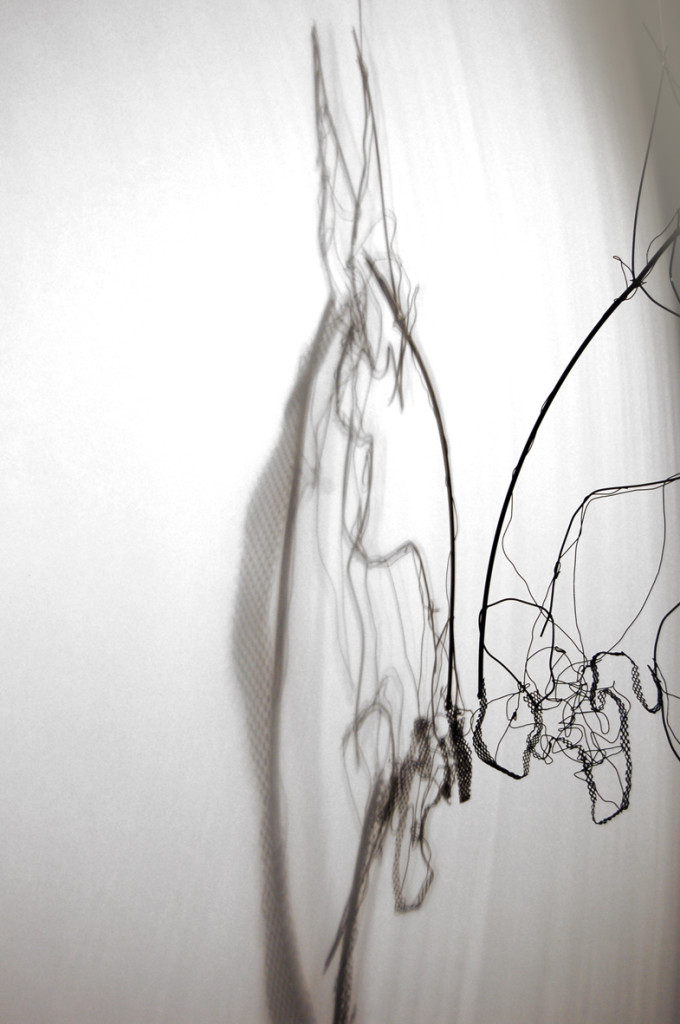 Detail from kinetic sculpture 'Horse and Alter Ego - Shadowplay' by Andie Clay