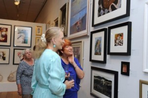 2014: SWA The153rd Annual Open Exhibition at the Mall Galleries London. Princess Michael of Kent and then Director Sue Jelley