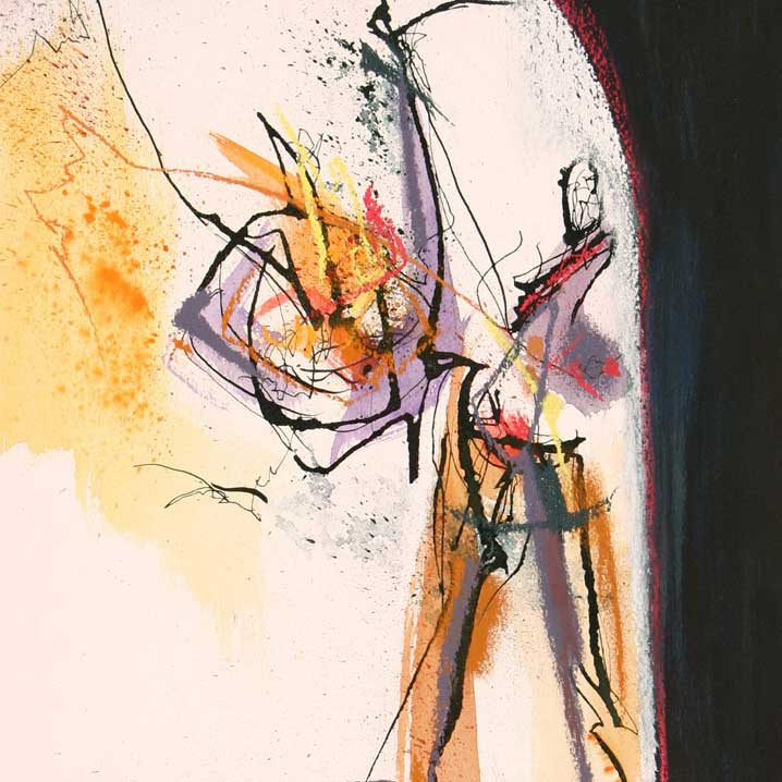 After Silence 4 - 65cm by 55cm - mixed media on paper
